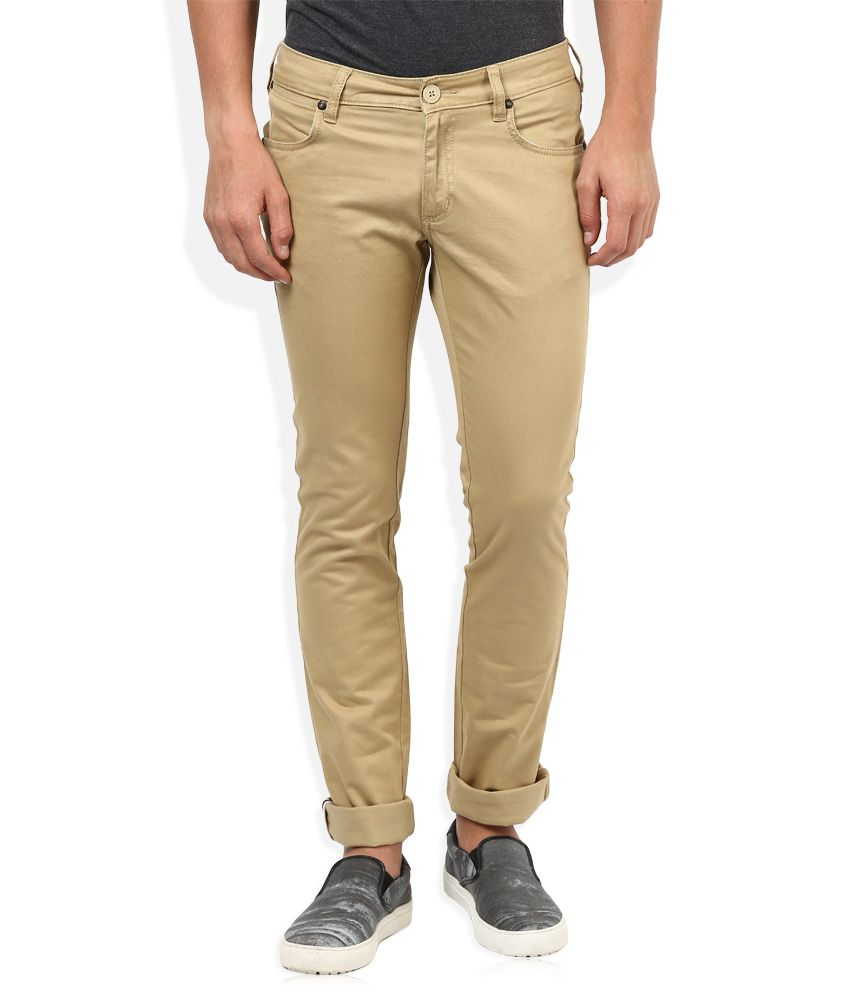 Wrangler Beige Regular Fit Traveler Chinos
