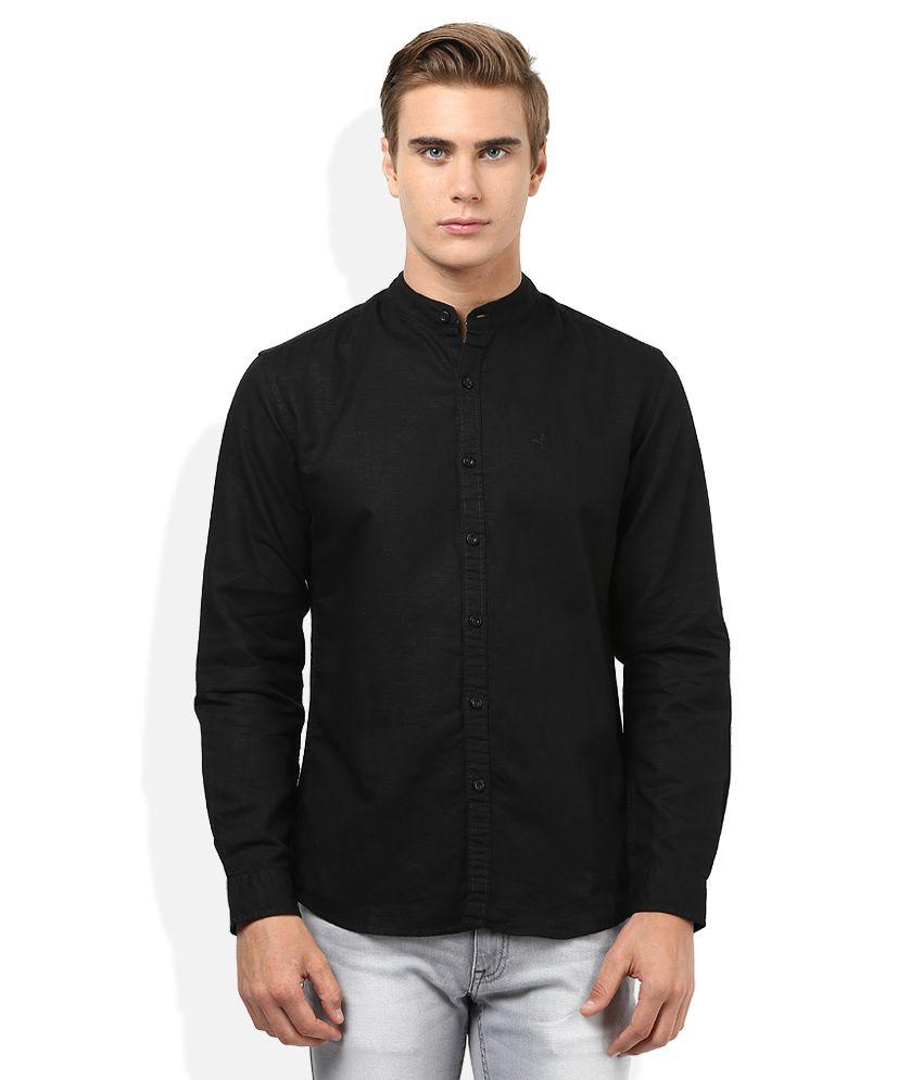67a42fbc Wrangler Black Slim Fit Solids Traveler Linen Blend Shirt - Buy Wrangler  Black Slim Fit Solids Traveler Linen Blend Shirt Online at Best Prices in  India on ...
