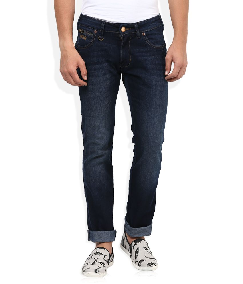 Wrangler Blue Slim Fit Traveler Jeans