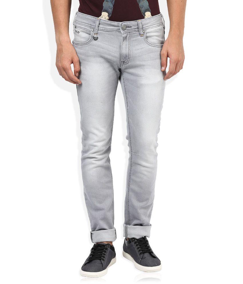 Wrangler Grey Slim Fit Traveler Jeans