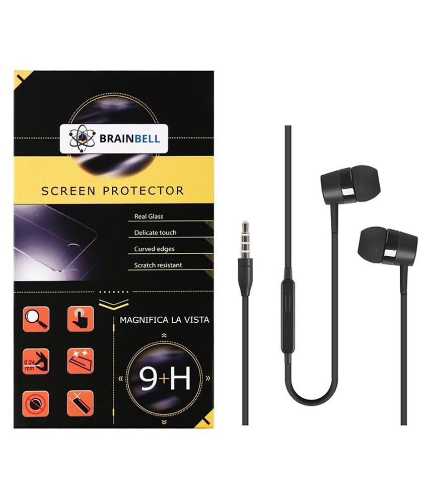 Brainbell Screen Guard For Nokia Lumia 640Xl With Earphone