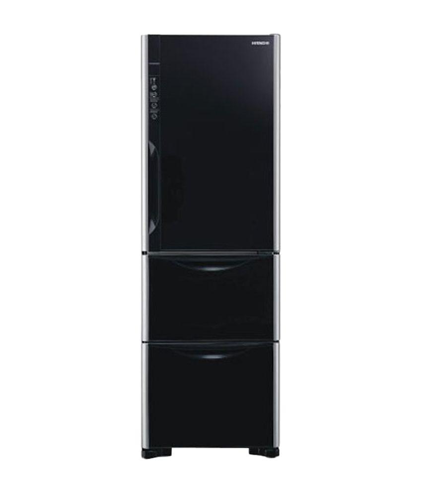 Hitachi 390-Ltr R-SG37BPND-GBK Frost Free Refrigerator Black