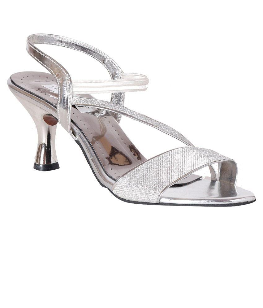 Pantof Silver Heeled Sandals