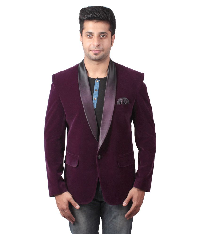 Shaurya-F Purple Festive Blazer