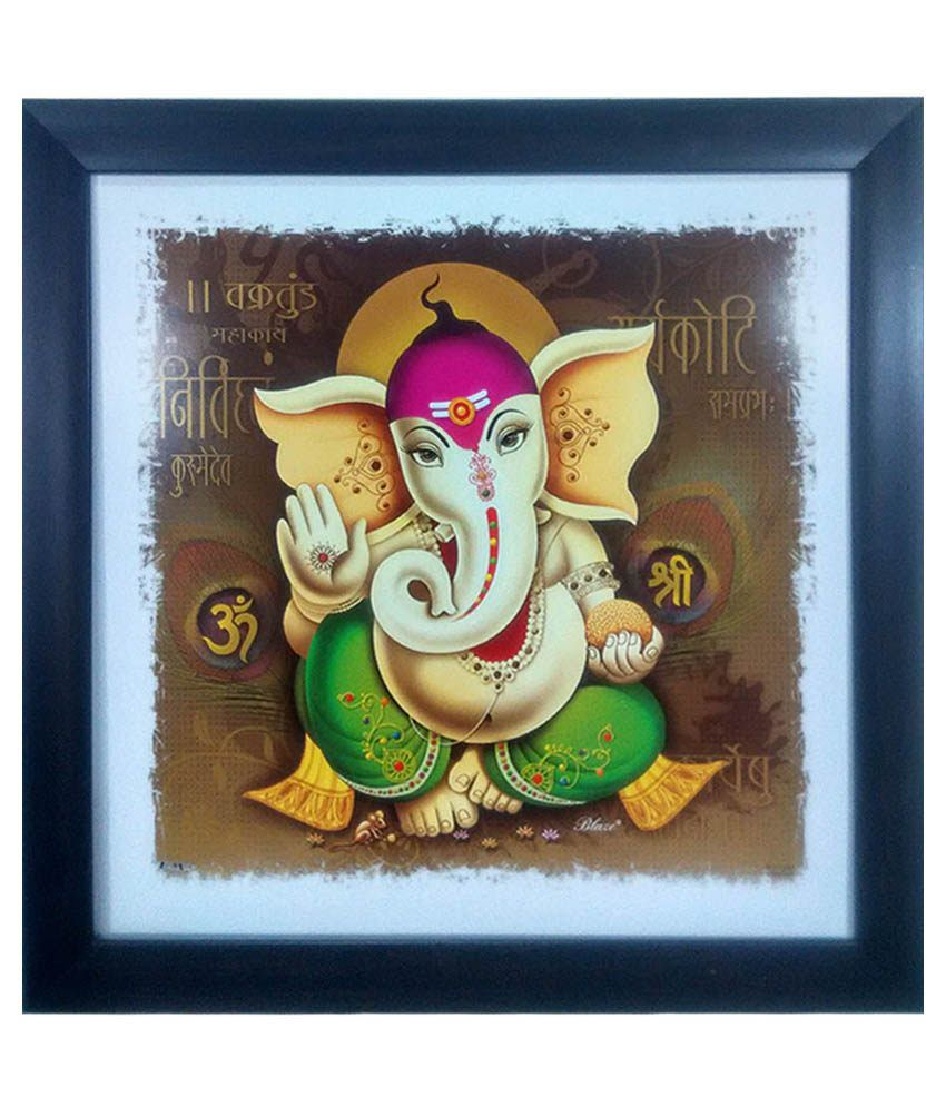 Trends on Wall Multicolour Shree Ganesha Painting
