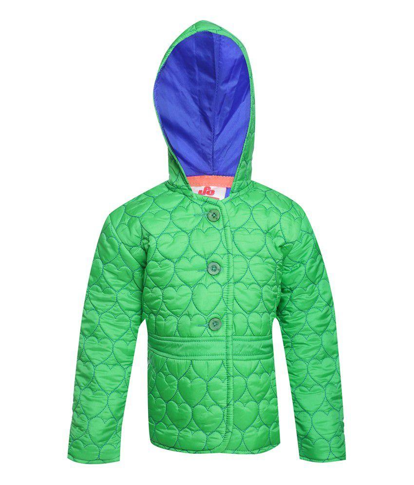 UFO Green Full Sleeve Polyester Jacket