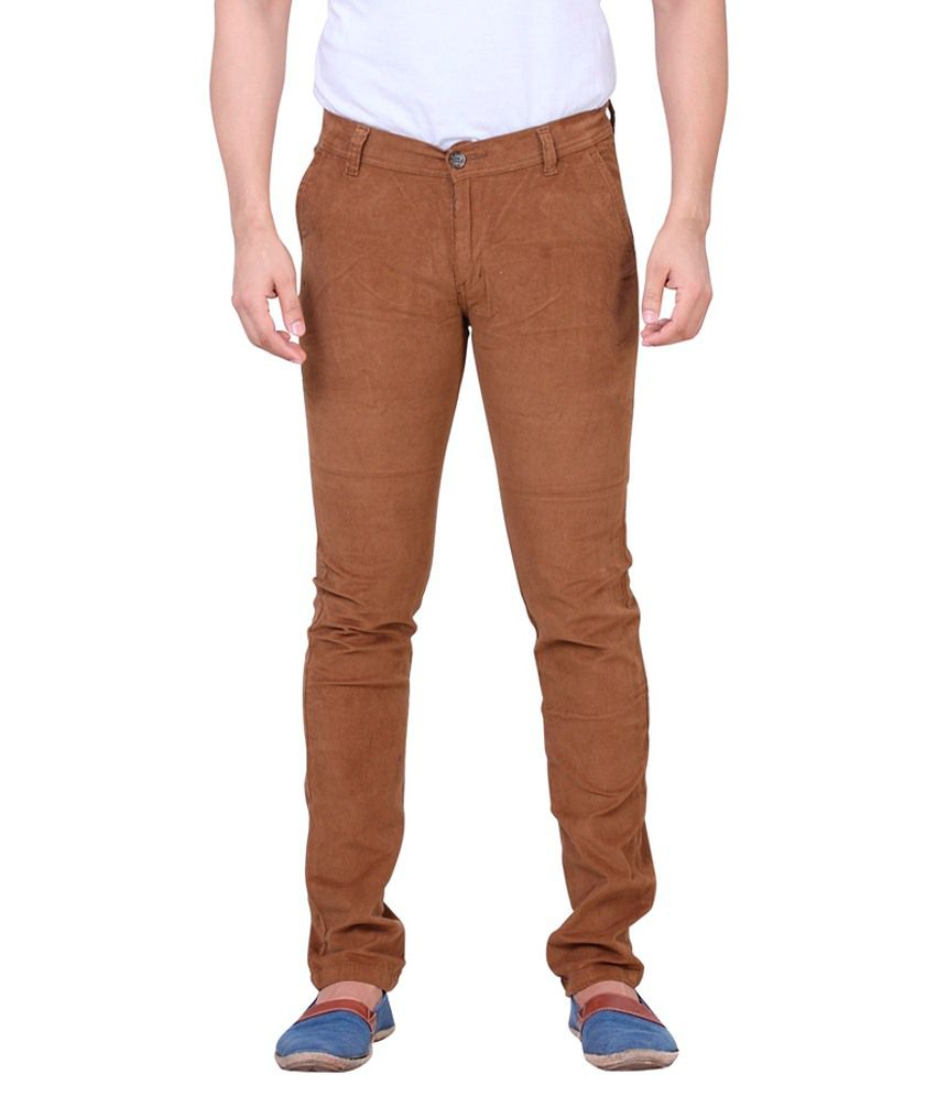 Private Image Khaki Slim Fit Casual Chinos