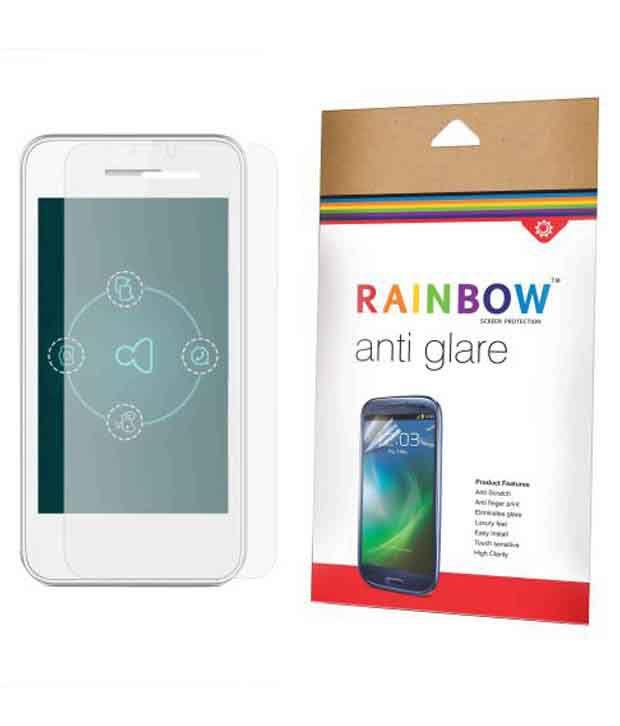 Rainbow Antiglare Screen Protector For Intex Aqua Y2 Power