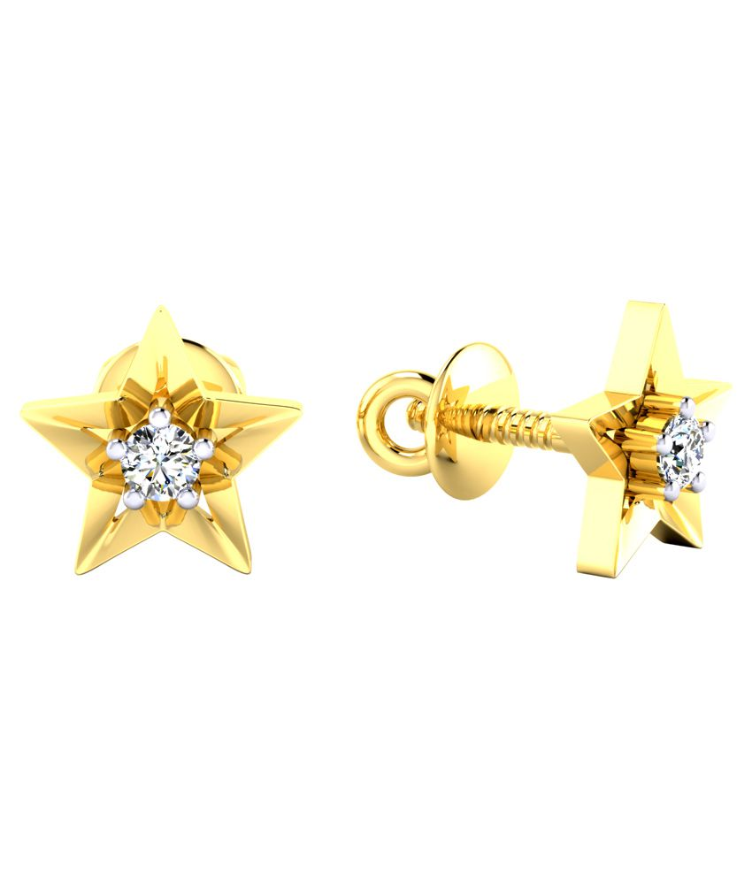 earrings gold ip white t igl com round w carat genuine walmart certified stud yellow diamond real