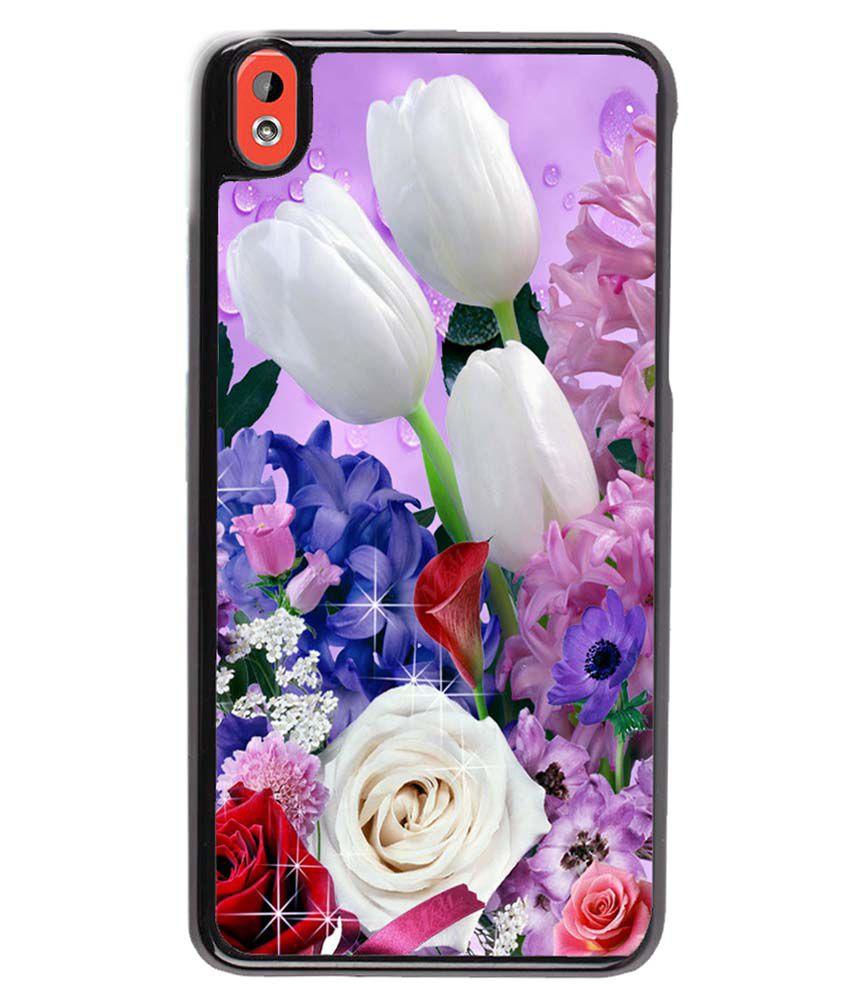 Fuson Back Cover Case For HTC Desire 820 - Multicolor