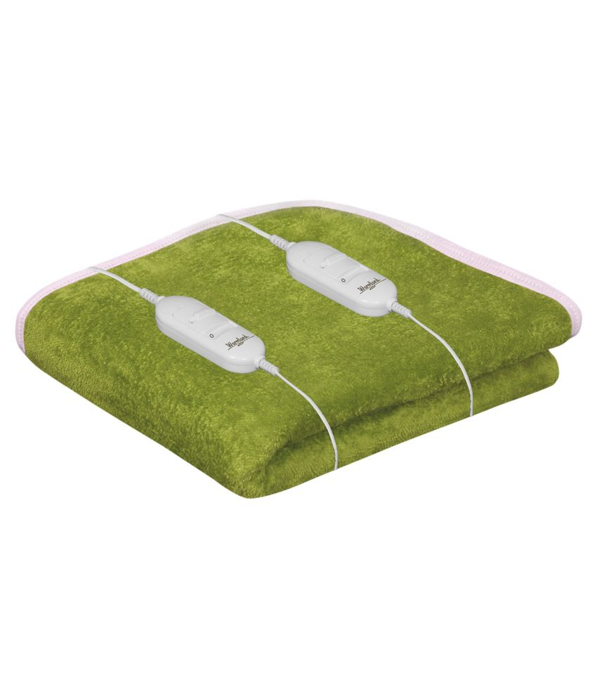 Paisa Worth Green Plain Electric Double Bed Warmer Buy