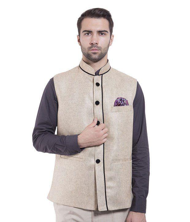 Wintage Brown Rayon Waistcoats