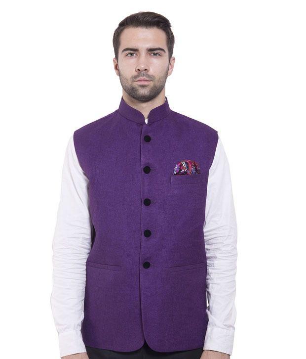 Wintage Purple Rayon Waistcoats