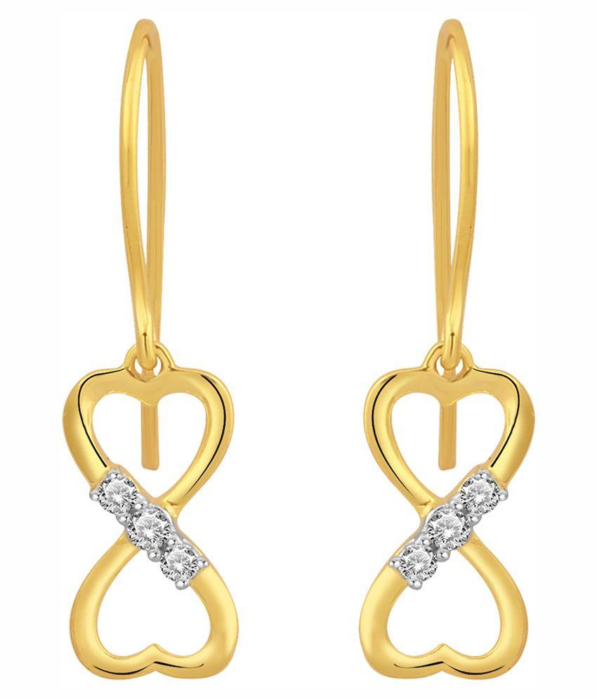 Daily Diamonds 14kt Gold Hoops Earrings