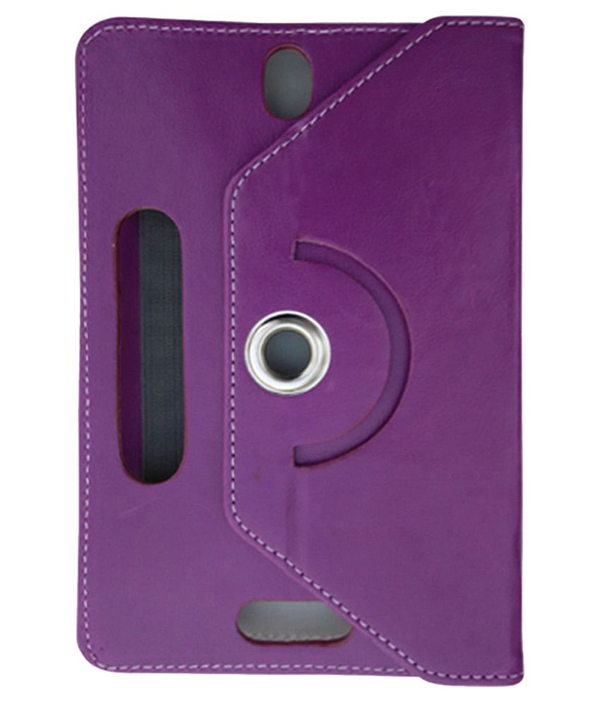 Fastway Rotating Flip Cover For Samsung Galaxy Tab3 T211 & T210 - Purple