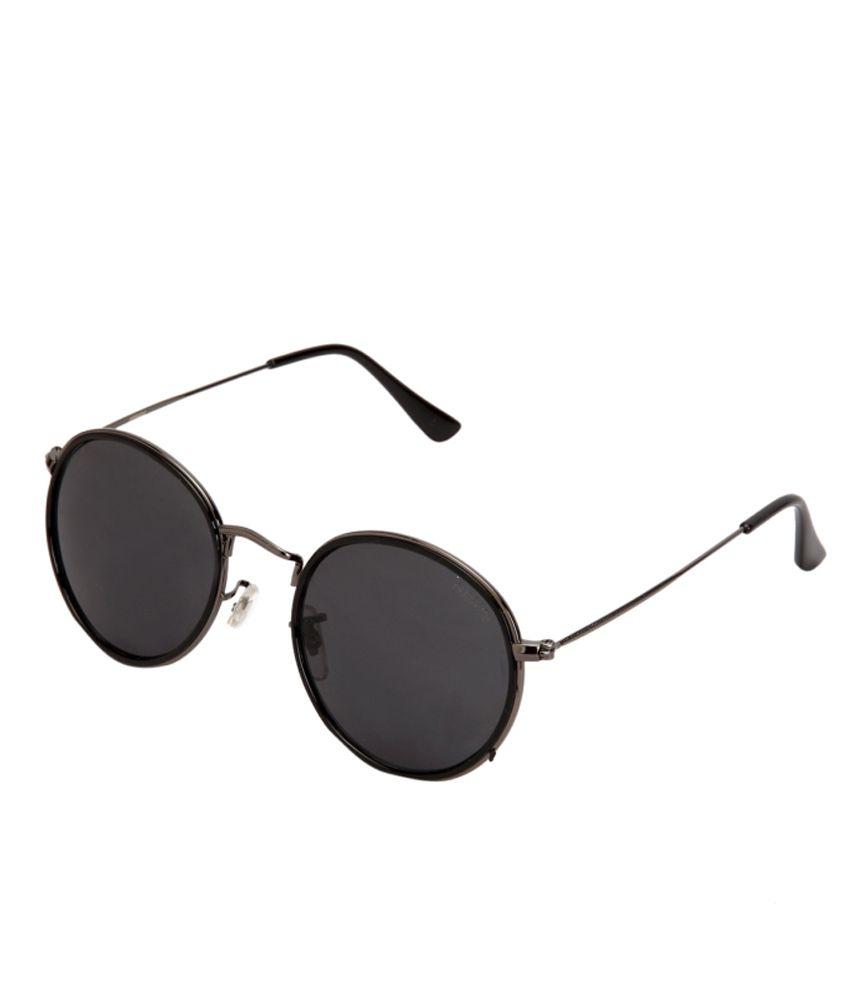 Ferrero Black Medium Round Unisex Sunglasses