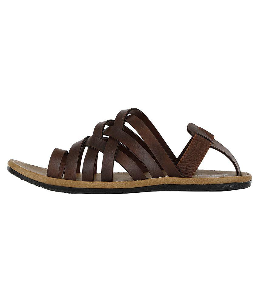 fd114565ccf2cb Kraasa Brown Sandals - Buy Kraasa Brown Sandals Online at Best ...