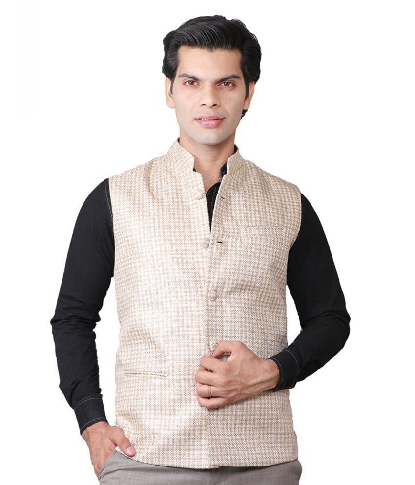 24e23fce3c51 Royalty Milan Gold Khadi Nehru Jacket - Buy Royalty Milan Gold Khadi Nehru  Jacket Online at Low Price in India - Snapdeal