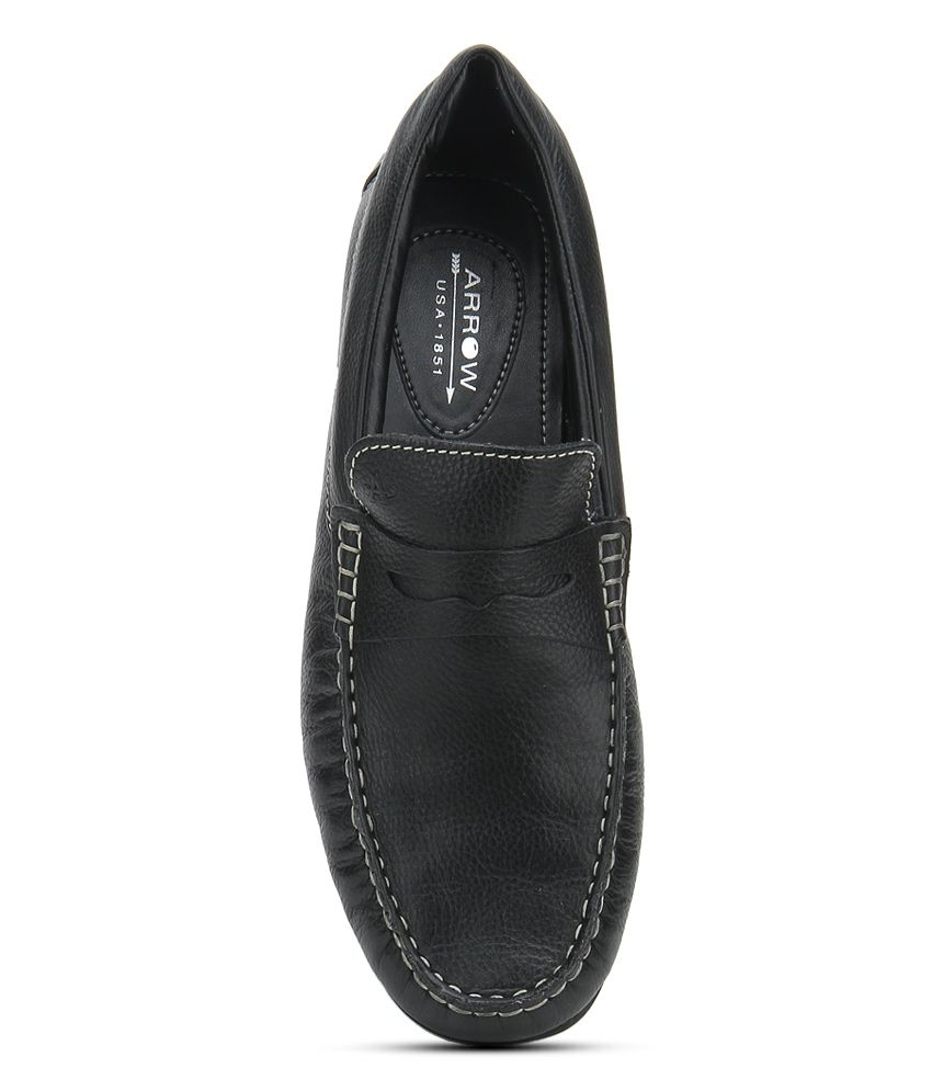 63d3a3a634a Arrow Black Loafers - Buy Arrow Black Loafers Online at Best Prices in  India on Snapdeal