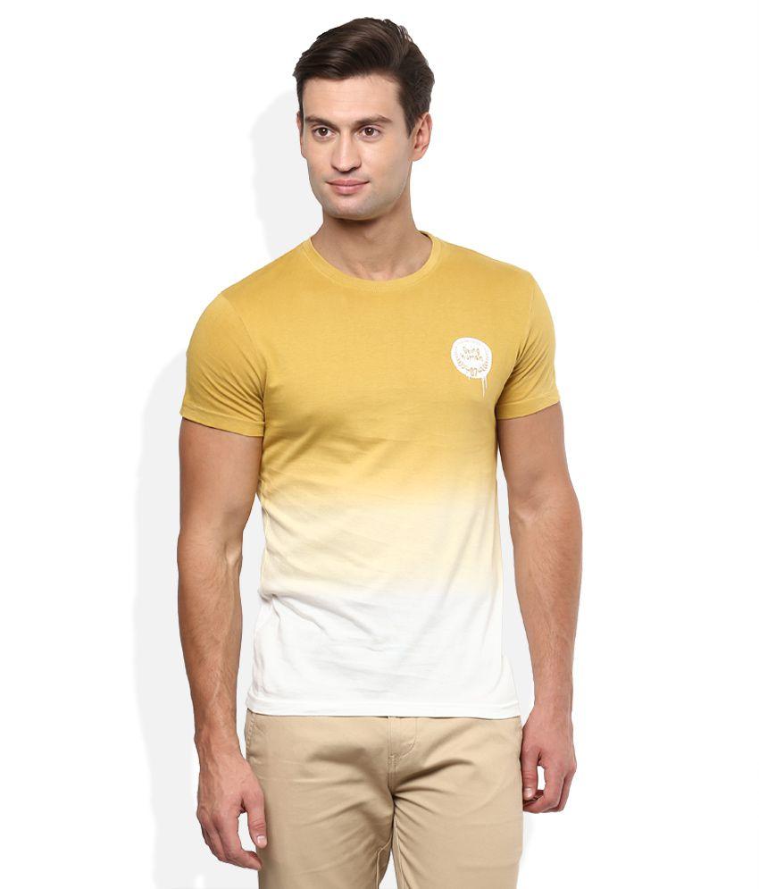 Being Human Yellow Round NeckT-Shirt
