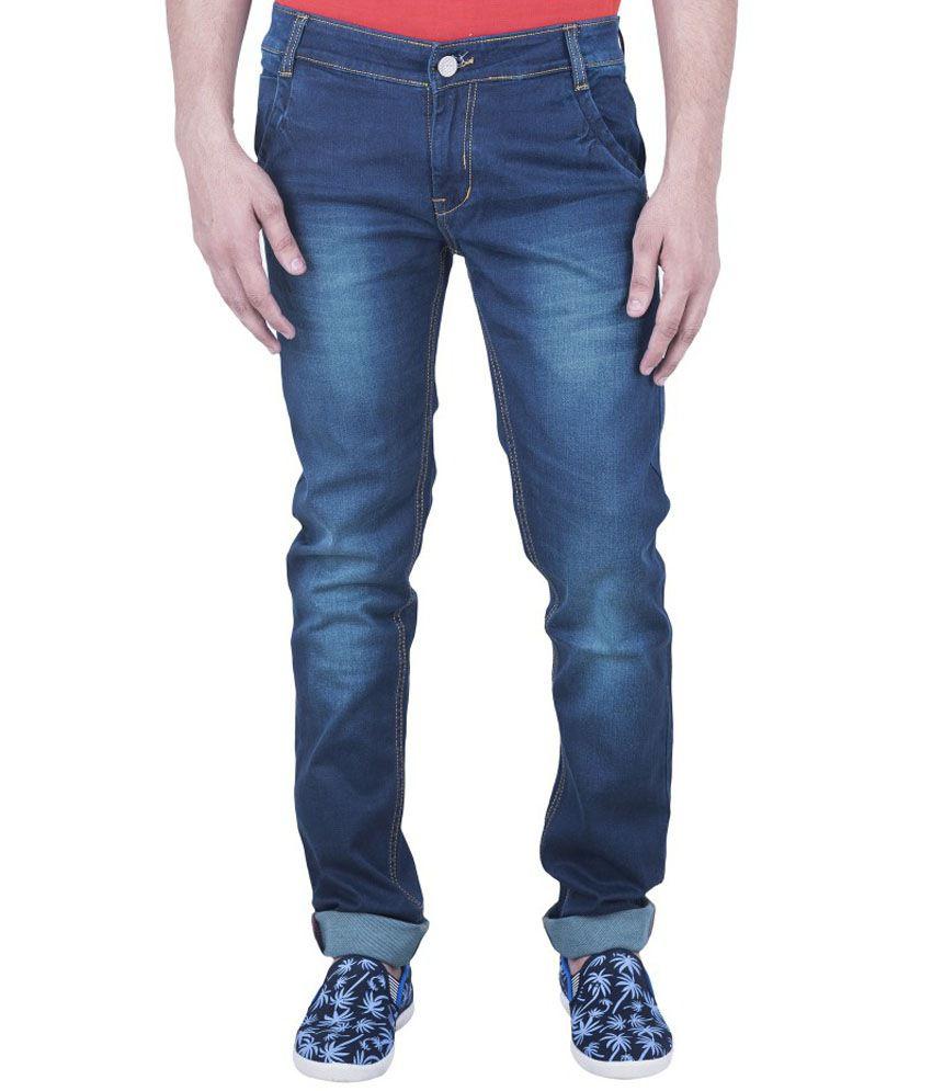 A&A Dark Blue Slim Fit Jeans