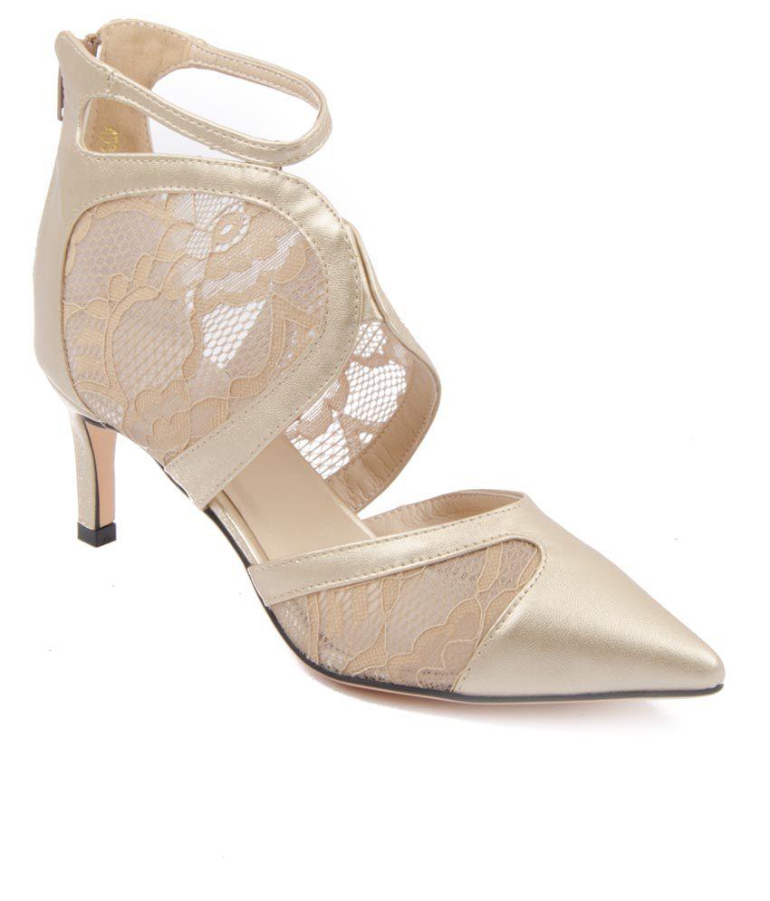 AAndS Gold Stilettos Heels