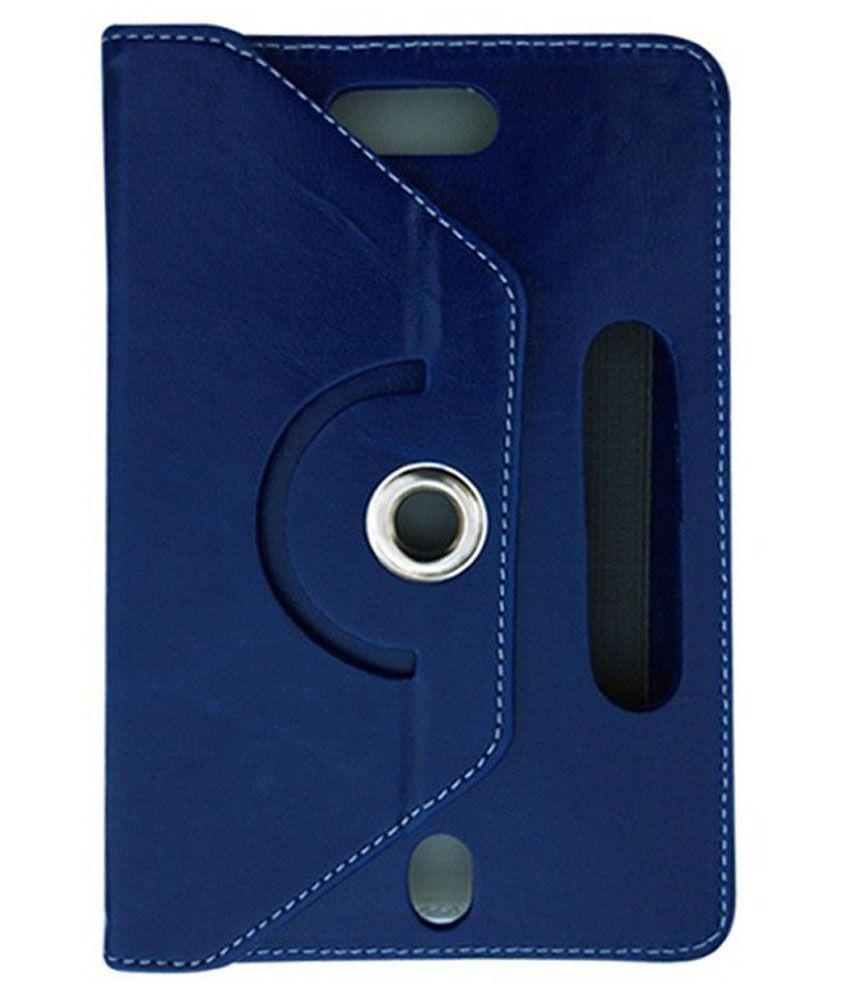 Fastway Flip Cover For Micromax Canvas Tab P480 -Blue