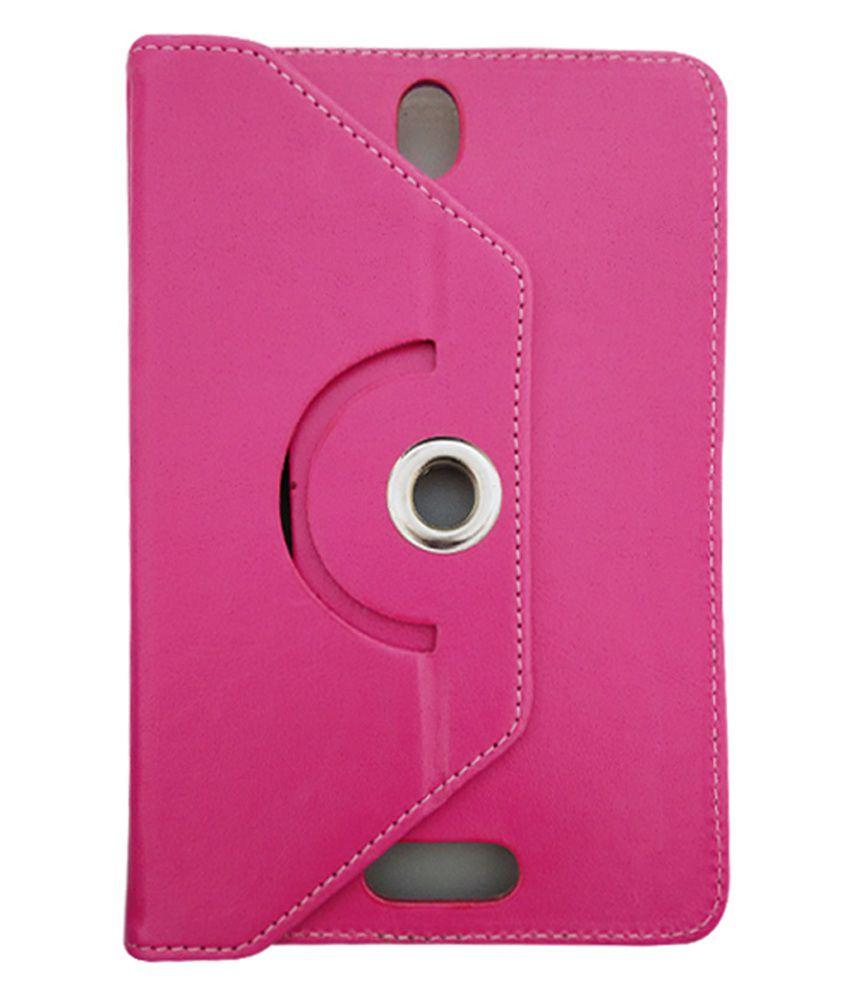 Fastway Flip Stand Cover For Karbonn Smart Tab 7 Tornado -Pink