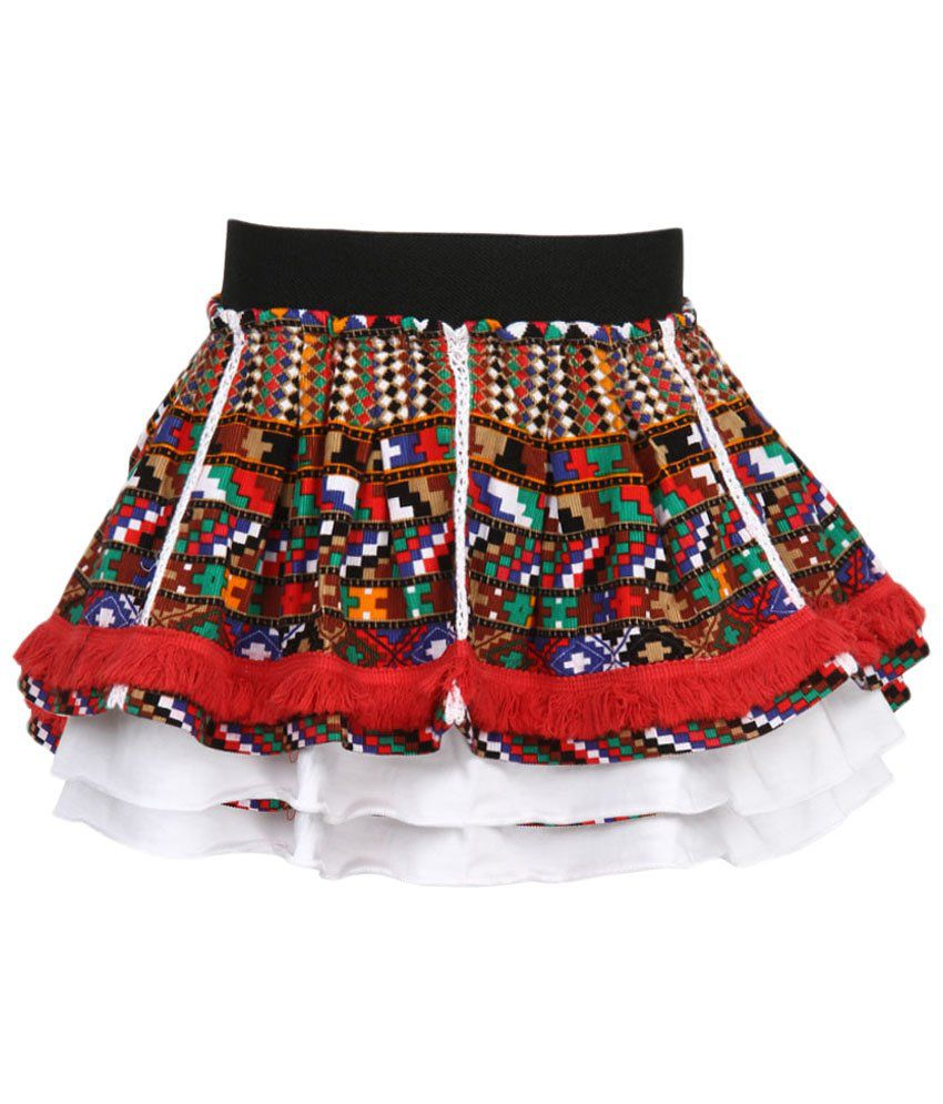 Stop by Shoppers Stop Red & Brown Cotton Skirt