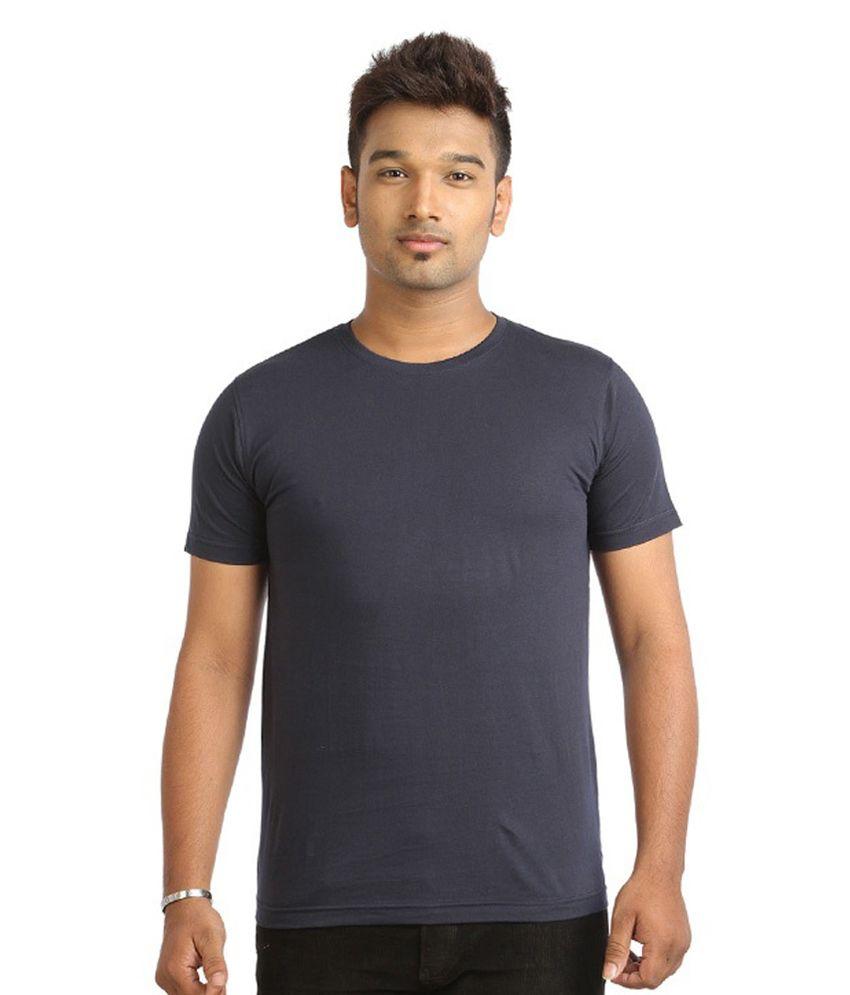 Alangar Navy Blue Cotton T-shirt