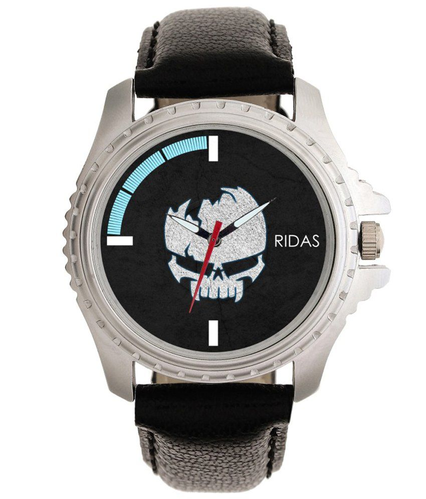 Ridas Black Sports Leather Men Watch
