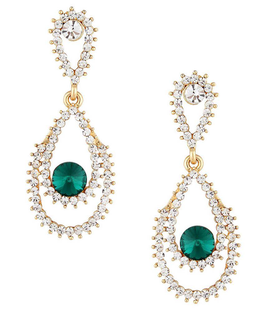Glitte Bebe Golden Alloy Drop Earrings