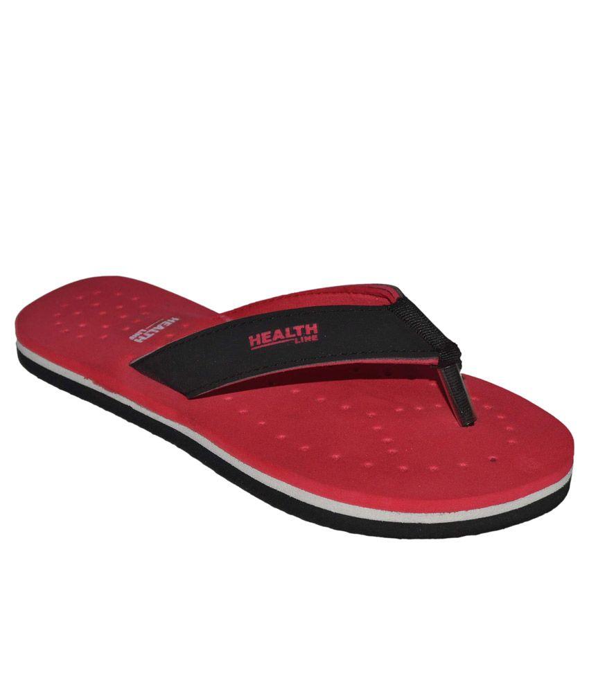 Health Line Red Flip Flops