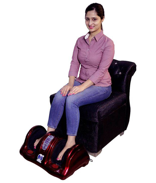 ... JSB HF68 Compact Portable Foot Massager With Heat (Red)