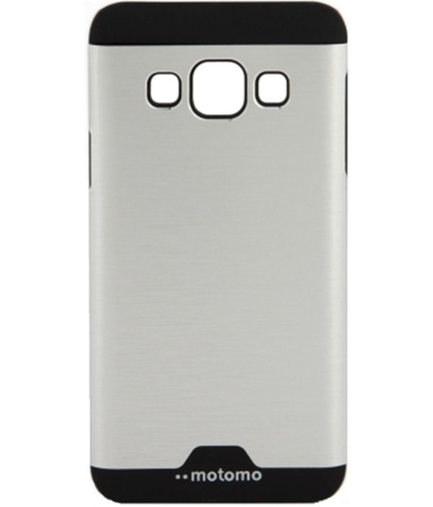 online store 9ba61 bdf08 Motomo Aluminium Brushed Back Cover For Samsung Galaxy J5 SM-J500F - Silver