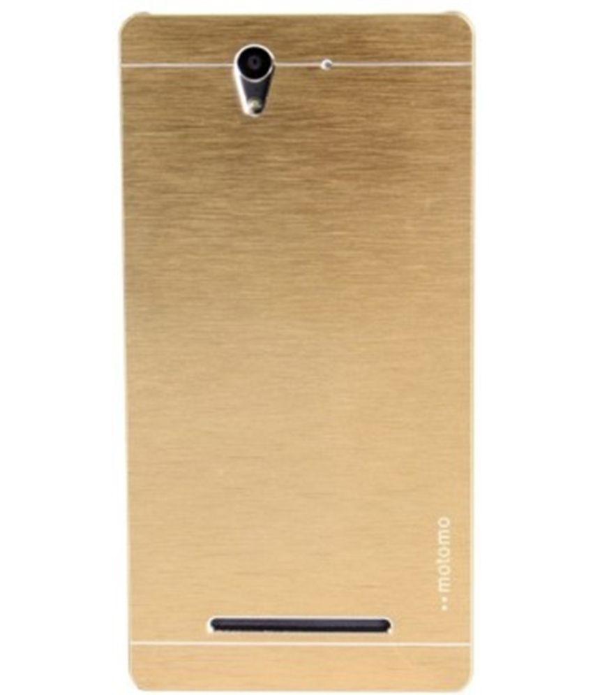 buy popular 777f8 910b1 Motomo Aluminium Brushed Back Cover For Sony Xperia T2 Ultra Dual - Golden