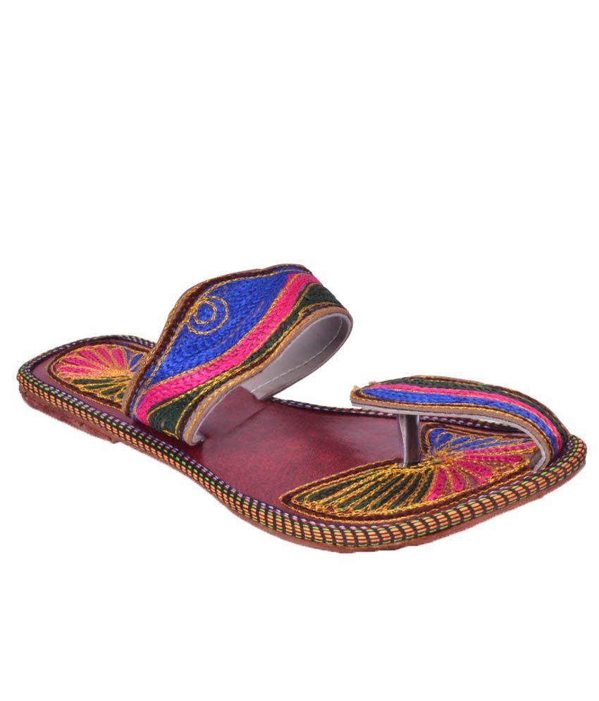 Yatha Multicolour Flat Slip Ons