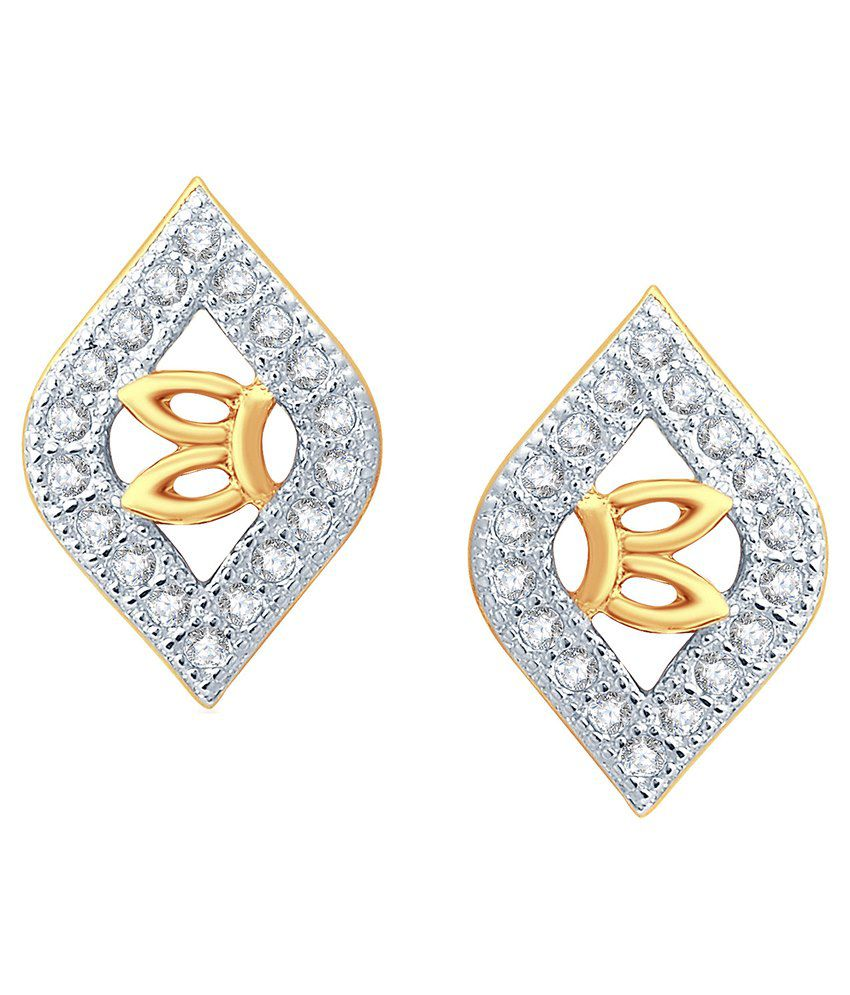 KaratCraft 18Kt Gold Stud Earrings