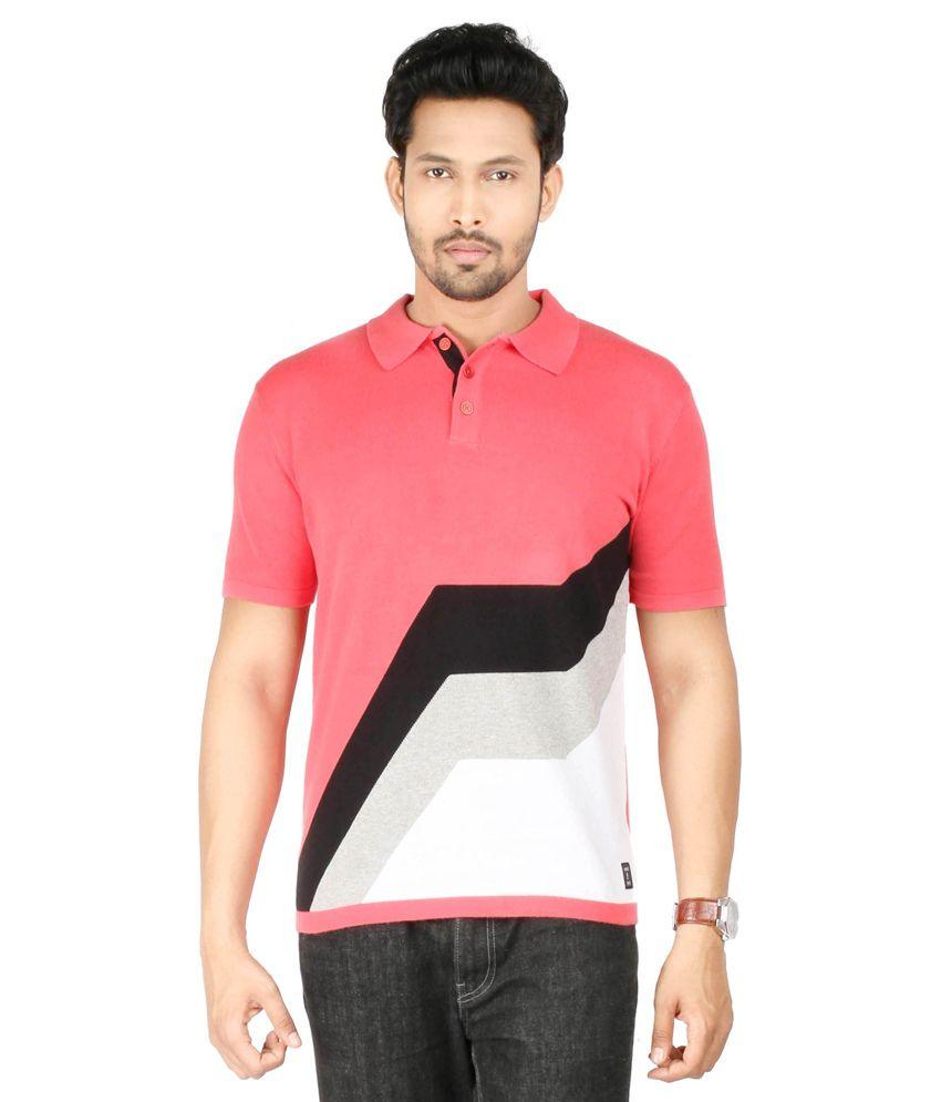 1f7198f6 Donear NXG Pink Half Sleeves Color Blocks Polo T-Shirt - Buy Donear NXG Pink  Half Sleeves Color Blocks Polo T-Shirt Online at Low Price - Snapdeal.com