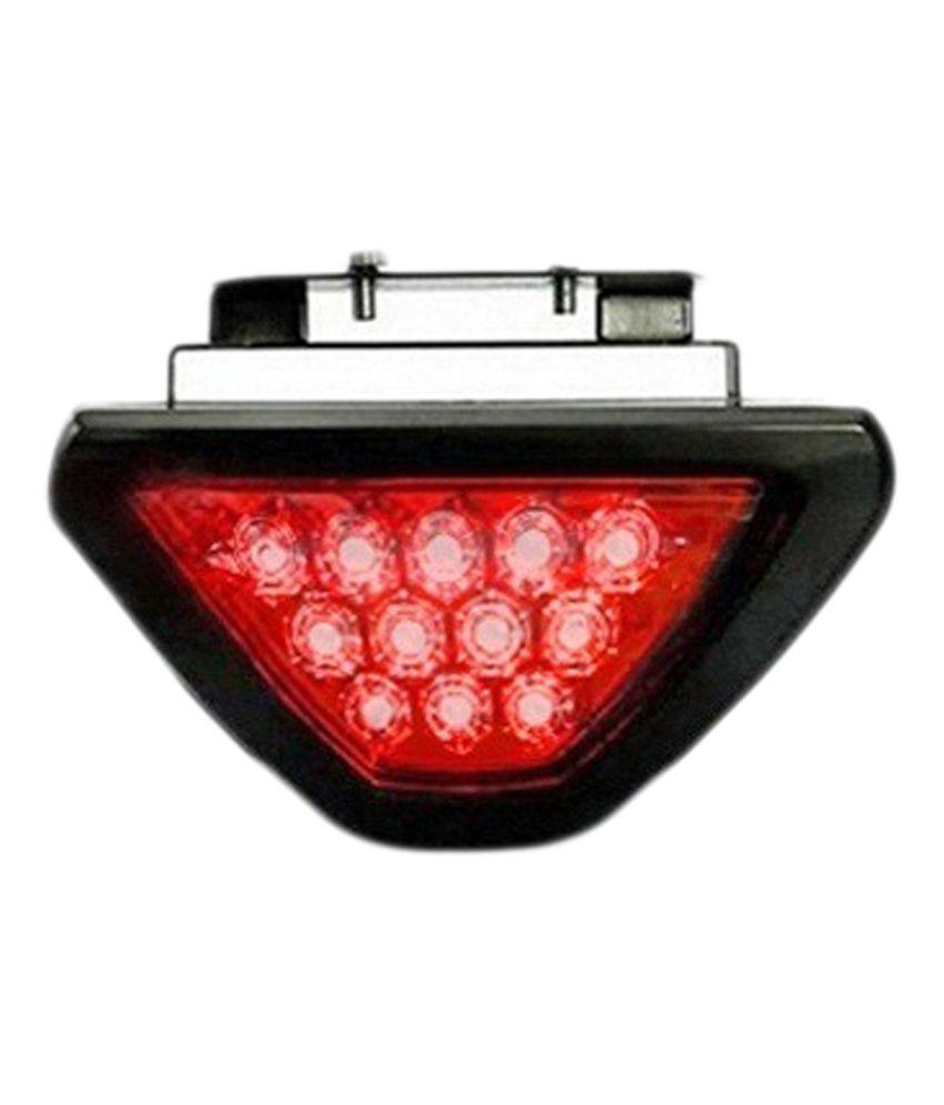 Takecare 12 Red LED Flashing 3rd Brake Lamp Light for Maruti Wagon R