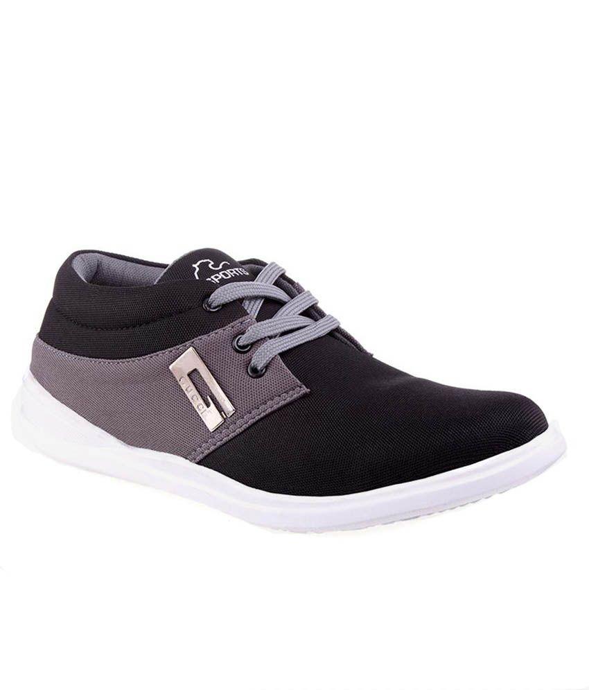 Aadi Black Sneaker Shoes ...