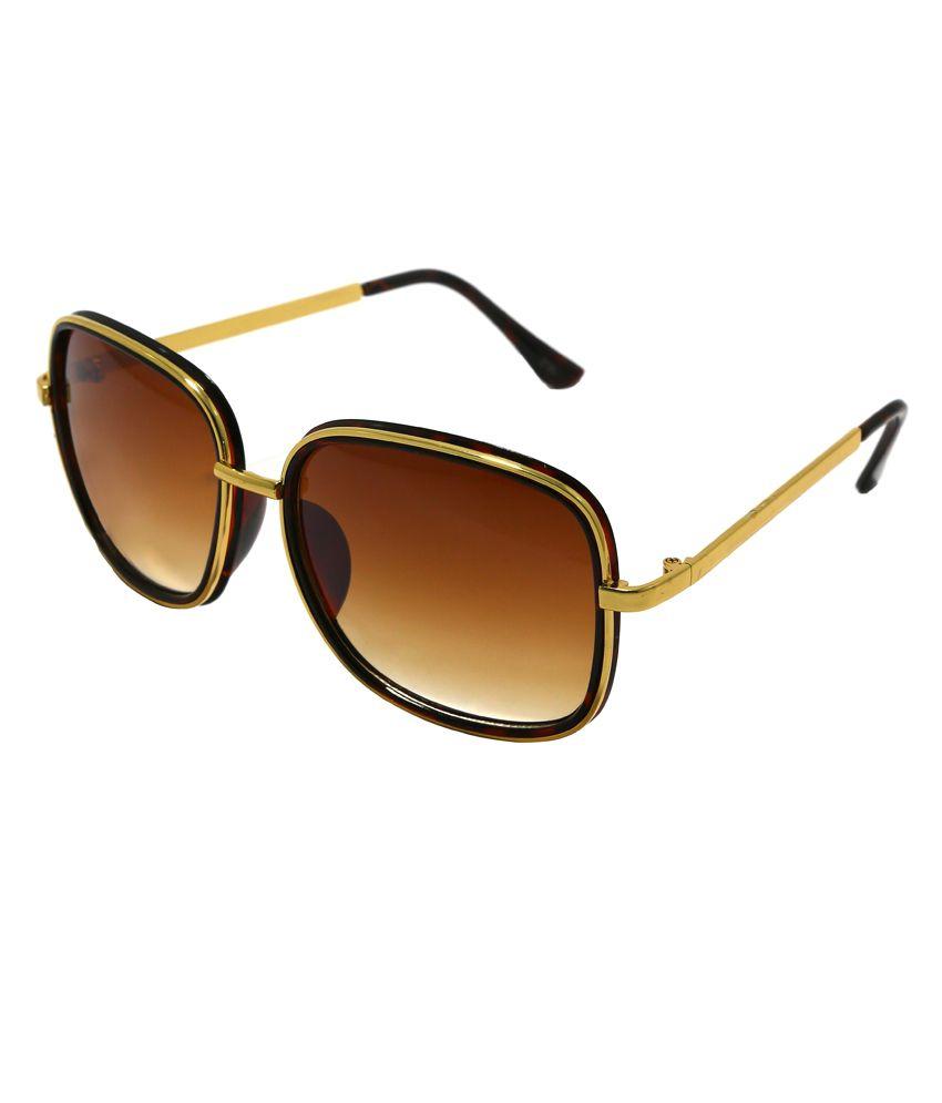 Audbury Plush Collection Rectangular Sunglasses - Golden