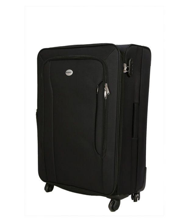 Eurostyle Soft Luggage 4 Wheel Trolley Bag Blue Buy