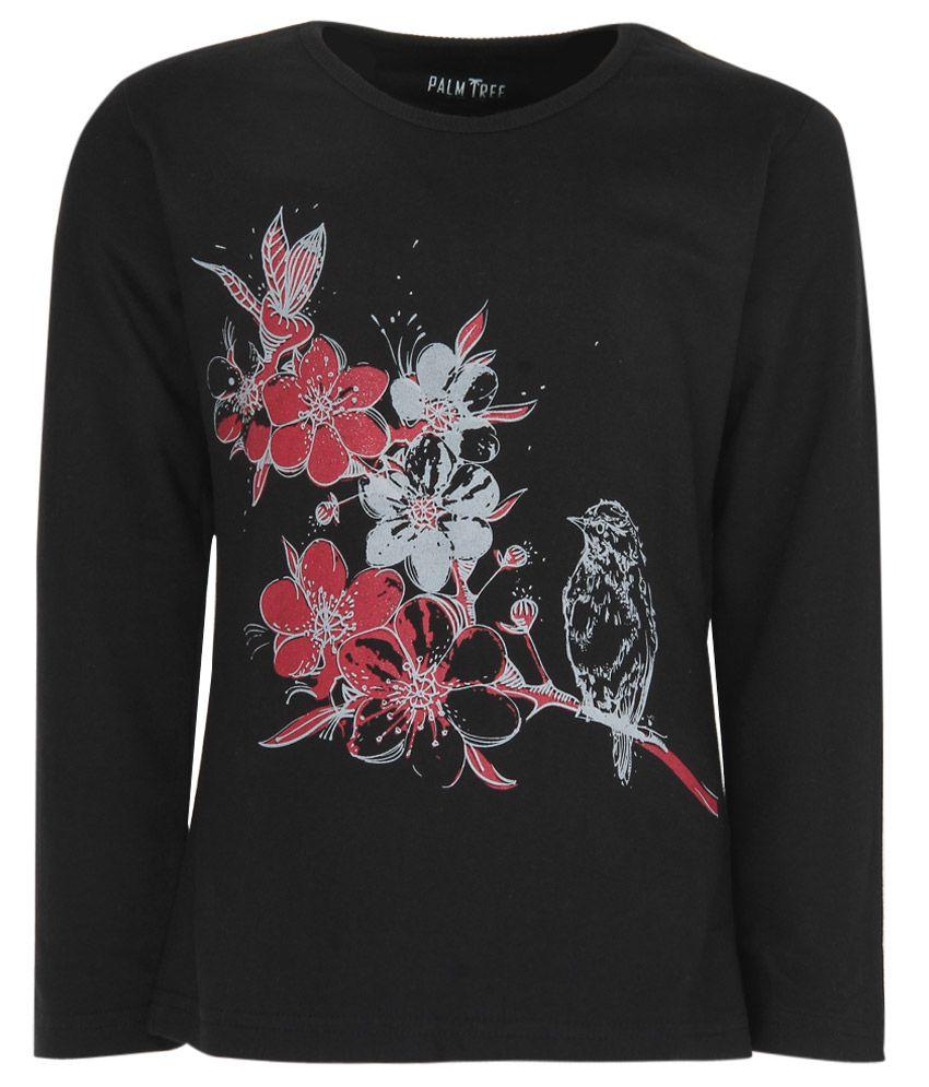 Gini & Jony Black Printed Sweatshirt
