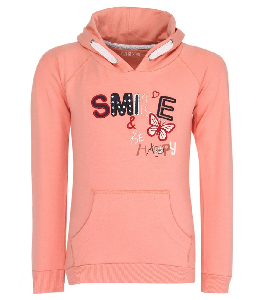 Gini & Jony Peach Hooded Sweatshirt