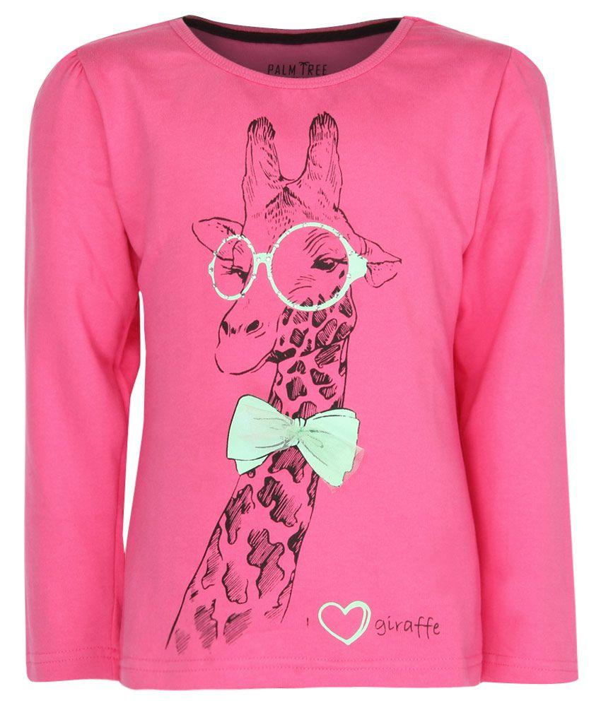 Gini & Jony Pink Printed Sweatshirt