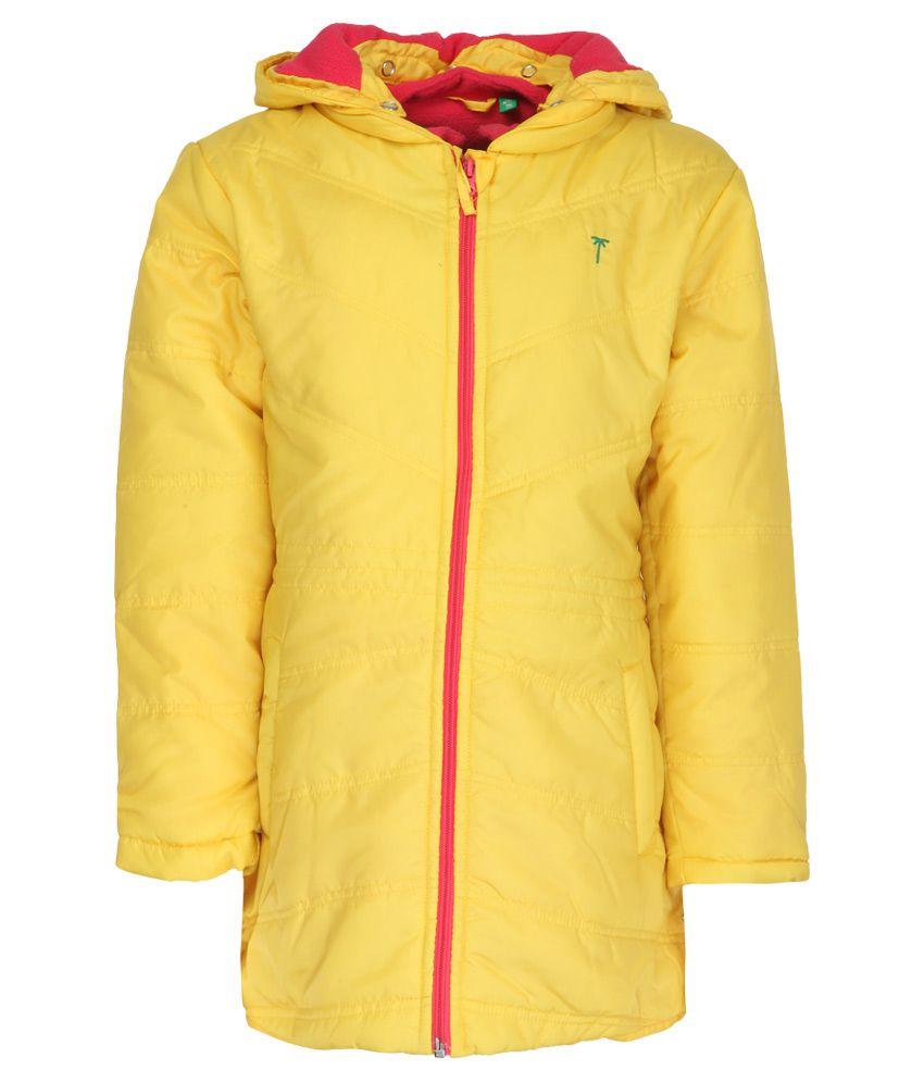 Gini & Jony Yellow Hooded Jacket