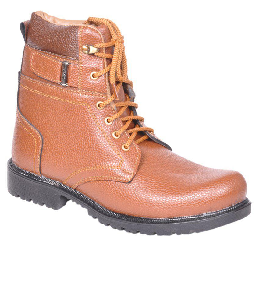 Leeport Tan Casual Boots