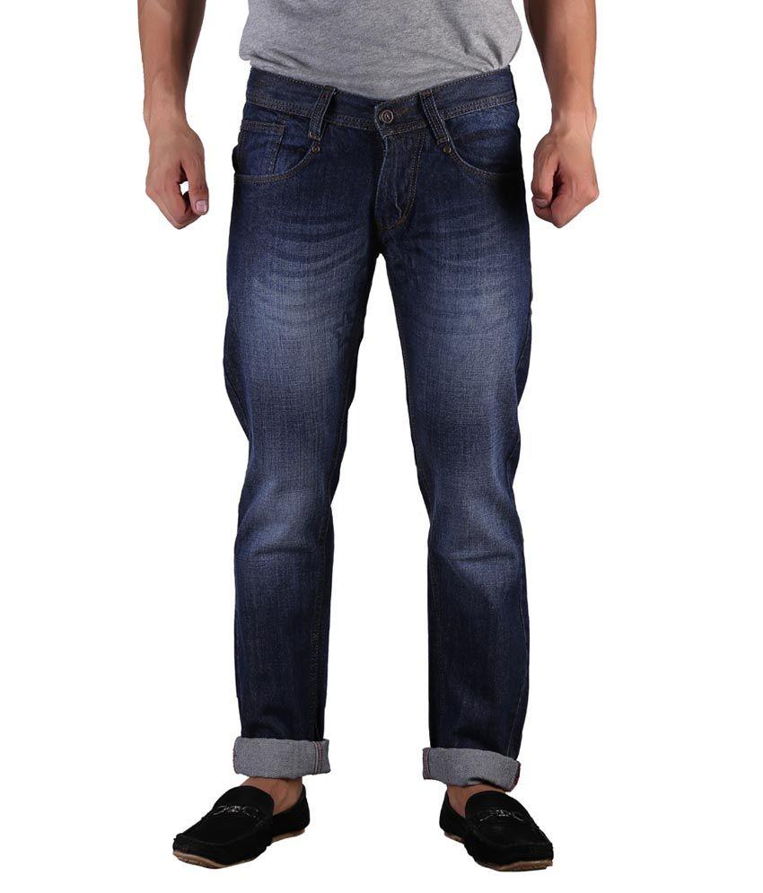 D2nine Blue Slim Fit Jeans