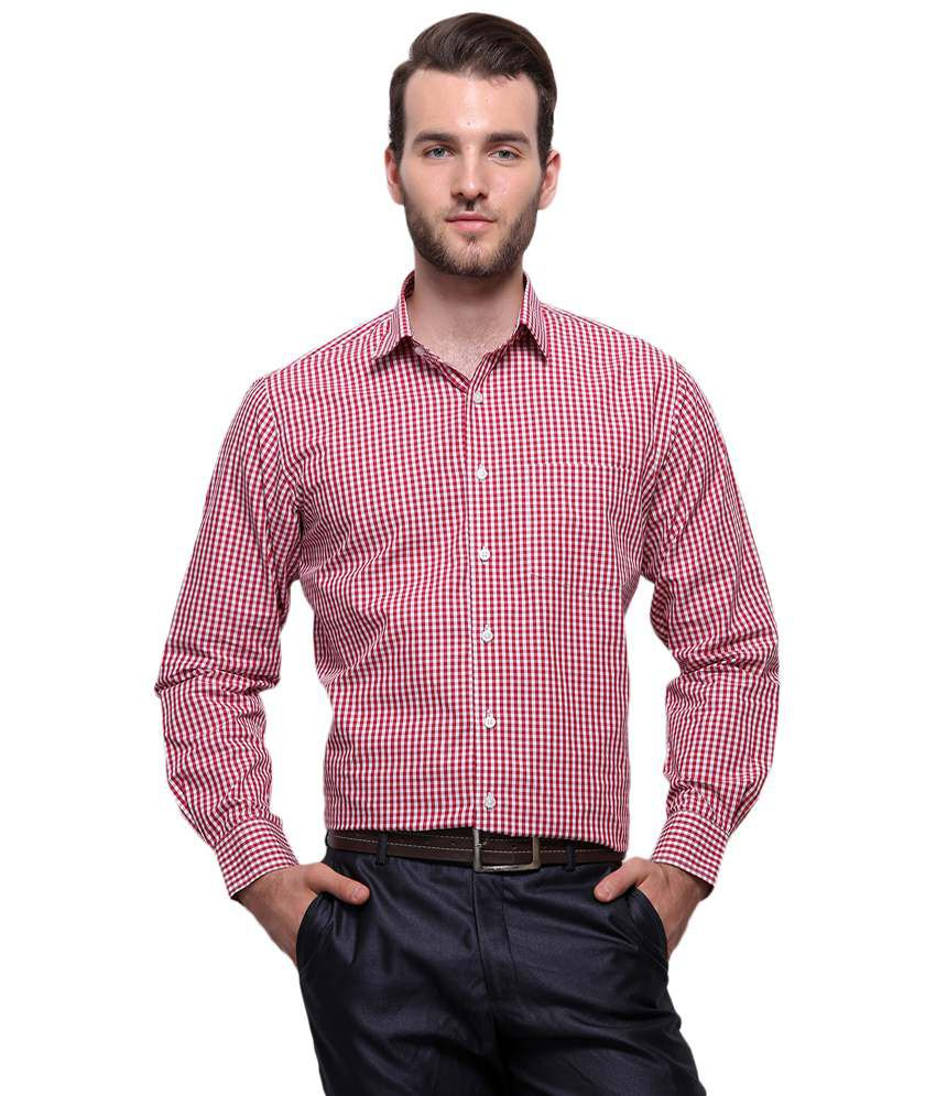 1ecacf6eb6d Grasim Red   White Checkered Formal Shirt - Buy Grasim Red   White Checkered  Formal Shirt Online at Best Prices in India on Snapdeal